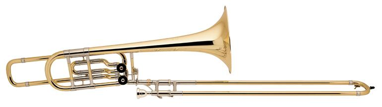 Trombone basse Stradivarius 2 barillets pavillon 265mm open wrap